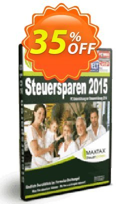 MAXTAX Steuersparen 2015 DELUXE Coupon, discount NEUKUNDEN-AKTION 2015. Promotion: special deals code of MAXTAX Steuersparen 2015 DELUXE 2020