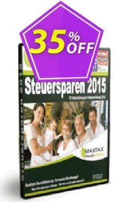MAXTAX Steuerparen 2015 Deluxe für Selbstständige Coupon, discount NEUKUNDEN-AKTION 2015. Promotion: awesome sales code of MAXTAX Steuerparen 2015 Deluxe für Selbstständige 2020