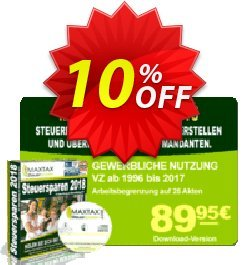 MAXTAX - Beraterversion 25 Akten Coupon, discount MAXTAX SPAR-ABO. Promotion: dreaded sales code of MAXTAX - Beraterversion 25 Akten 2020