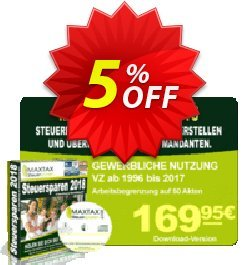 MAXTAX - Beraterversion 50 Akten Coupon, discount MAXTAX SPAR-ABO. Promotion: excellent deals code of MAXTAX - Beraterversion 50 Akten 2021