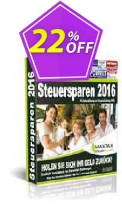 MAXTAX Steuersparen Nachlizensierung/Upgrade Coupon, discount MAXTAX SPAR-ABO. Promotion: imposing promotions code of MAXTAX Steuersparen Nachlizensierung/Upgrade 2019