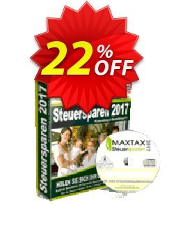 MAXTAX Steuersparen 2017 DELUXE Coupon, discount MAXTAX SPAR-ABO. Promotion: impressive deals code of MAXTAX Steuersparen 2017 DELUXE 2021