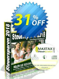 MAXTAX Steuersparen 2018 Standard Coupon, discount MAXTAX SPAR-ABO. Promotion: dreaded promo code of MAXTAX Steuersparen 2021 Standard 2021