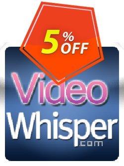 ClipShare VideoWhisper Webcam Plugins Coupon, discount Give Me Five 5% Discount. Promotion: formidable offer code of ClipShare VideoWhisper Webcam Plugins 2020