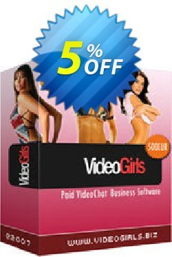 VideoGirls BiZ Turnkey PPV Video Chat Script Coupon, discount Give Me Five 5% Discount. Promotion: fearsome discounts code of VideoGirls BiZ Turnkey PPV Video Chat Script 2020