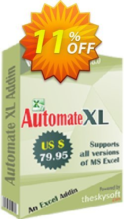 Automate XL Coupon, discount 10%Discount. Promotion: stirring promotions code of Automate XL 2019