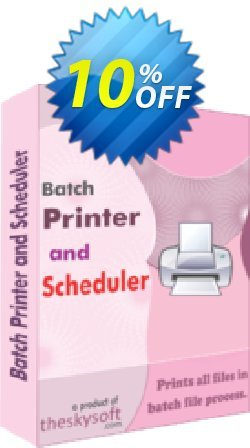 Batch Printer and Scheduler Coupon, discount 10%Discount. Promotion: excellent promo code of Batch Printer and Scheduler 2019