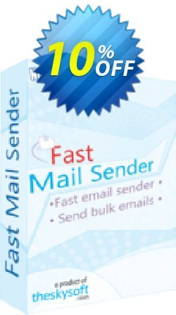 Fast Mail Sender Coupon, discount 10%Discount. Promotion: special sales code of Fast Mail Sender 2019