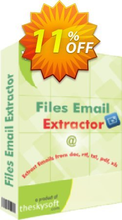 Files Email Extractor Coupon, discount 10%Discount. Promotion: awesome offer code of Files Email Extractor 2019