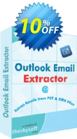Outlook Email Extractor Coupon, discount 10%Discount. Promotion: stirring deals code of Outlook Email Extractor 2019