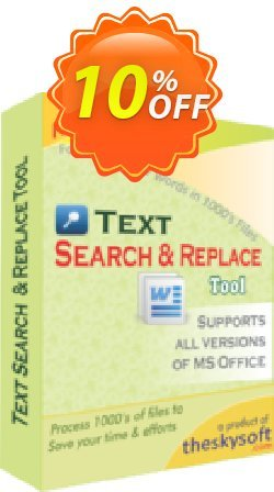 TheSkySoft Text Search and Replace Tool Coupon discount 10%Discount. Promotion: dreaded discounts code of Text Search and Replace Tool 2021