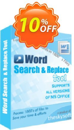 Word Search and Replace Tool Coupon, discount 10%Discount. Promotion: awful offer code of Word Search and Replace Tool 2019