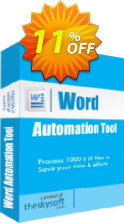 Word Automation Tool Coupon, discount 10%Discount. Promotion: fearsome sales code of Word Automation Tool 2019