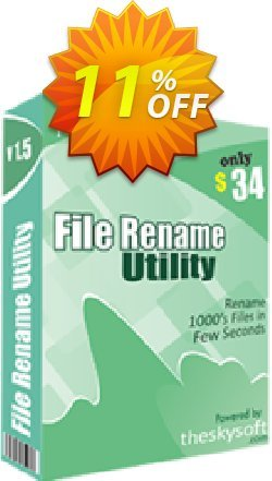File Rename Utility Coupon, discount 10%Discount. Promotion: marvelous offer code of File Rename Utility 2019