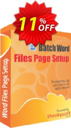 Batch Word Files Page Setup Coupon, discount 10%Discount. Promotion: big sales code of Batch Word Files Page Setup 2019