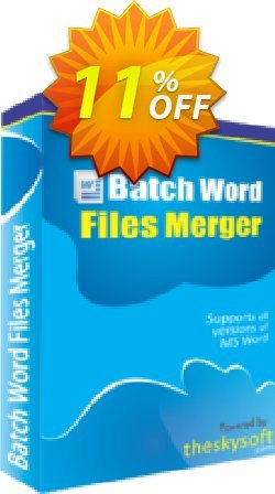 Batch Word Files Merger Coupon, discount 10%Discount. Promotion: awesome discount code of Batch Word Files Merger 2019