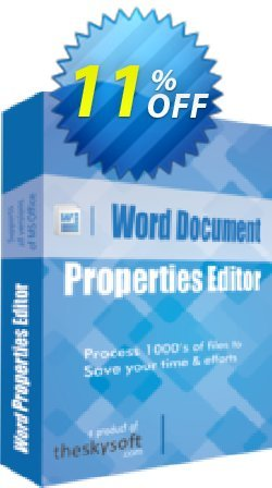 Word Document Properties Editor Coupon, discount 10%Discount. Promotion: amazing discounts code of Word Document Properties Editor 2019