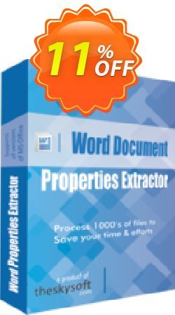 Word Document Properties Extractor Coupon, discount 10%Discount. Promotion: best sales code of Word Document Properties Extractor 2019