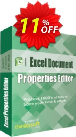 Excel Document Properties Editor Coupon, discount 10%Discount. Promotion: wondrous promo code of Excel Document Properties Editor 2019