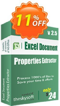 Excel Document Properties Extractor Coupon, discount 10%Discount. Promotion: amazing sales code of Excel Document Properties Extractor 2019