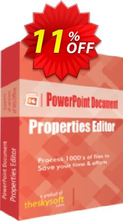 PowerPoint Document Properties Editor Coupon, discount 10%Discount. Promotion: super deals code of PowerPoint Document Properties Editor 2019