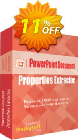 PowerPoint Document Properties Extractor Coupon, discount 10%Discount. Promotion: big offer code of PowerPoint Document Properties Extractor 2019