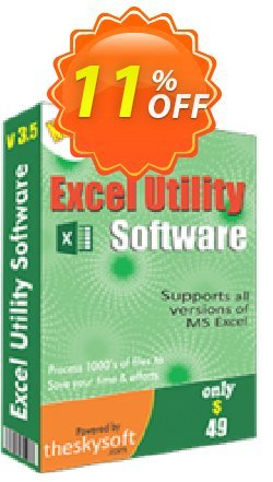 Excel Utility Software Coupon, discount 10%Discount. Promotion: hottest offer code of Excel Utility Software 2019