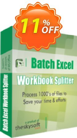 Batch Excel Workbook Splitter Coupon, discount 10%Discount. Promotion: awful deals code of Batch Excel Workbook Splitter 2019