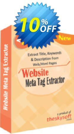 Website Meta Tag Extractor Coupon, discount 10%Discount. Promotion: stirring discount code of Website Meta Tag Extractor 2019