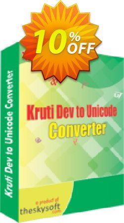 Kruti Dev to Unicode Converter Coupon, discount 10%Discount. Promotion: marvelous offer code of Kruti Dev to Unicode Converter 2019