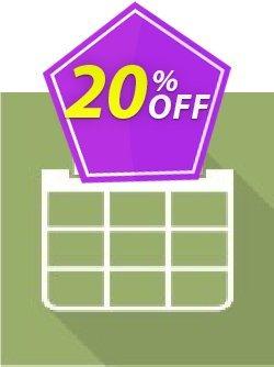 Virto Calendar Pro for SP2007 Coupon, discount Virto Calendar Pro for SP2007 wondrous promo code 2019. Promotion: wondrous promo code of Virto Calendar Pro for SP2007 2019