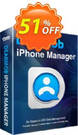 DearMob iPhone Manager - 1 Year Mac Coupon, discount DEARMOB-AFF-SPECIAL. Promotion: marvelous promotions code of DearMob iPhone Manager - 1 Year 1Mac 2020