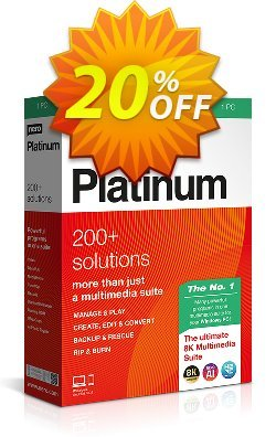 Nero Platinum 2020 Coupon, discount Nero Platinum 2020 exclusive discounts code 2020. Promotion: exclusive discounts code of Nero Platinum 2020 2020