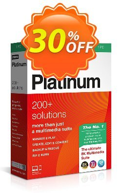 Nero Platinum Suite - Permanent license  Coupon, discount 30% Support - Subscription Products. Promotion: Best promo code of Nero Platinum Suite 2020