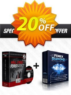 WallStreet Forex Robot 2.0 Evolution + Forex Diamond EA Coupon discount WallStreet Forex Robot 2.0 Evolution + Forex Diamond EA awesome offer code 2020. Promotion: awesome offer code of WallStreet Forex Robot 2.0 Evolution + Forex Diamond EA 2020