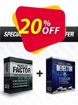 Volatility Factor EA + Forex Trend Detector Coupon, discount Volatility Factor EA + Forex Trend Detector fearsome promo code 2019. Promotion: fearsome promo code of Volatility Factor EA + Forex Trend Detector 2019