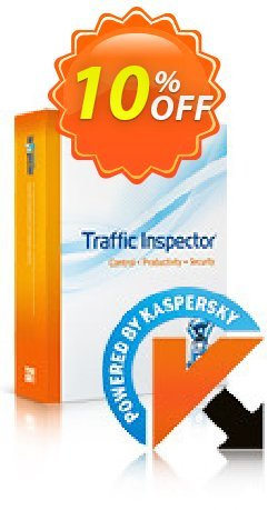 Traffic Inspector + Traffic Inspector Anti-Virus Gold 15 Coupon, discount Traffic Inspector+Traffic Inspector Anti-Virus powered by Kaspersky (1 Year) Gold 15 marvelous offer code 2021. Promotion: marvelous offer code of Traffic Inspector+Traffic Inspector Anti-Virus powered by Kaspersky (1 Year) Gold 15 2021