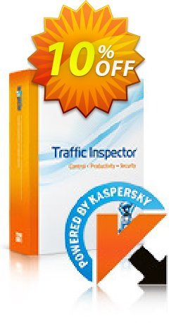 Traffic Inspector + Traffic Inspector Anti-Virus Gold 50 Coupon, discount Traffic Inspector+Traffic Inspector Anti-Virus powered by Kaspersky (1 Year) Gold 50 super sales code 2021. Promotion: super sales code of Traffic Inspector+Traffic Inspector Anti-Virus powered by Kaspersky (1 Year) Gold 50 2021