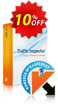 Traffic Inspector + Traffic Inspector Anti-Virus Gold 100 Coupon, discount Traffic Inspector+Traffic Inspector Anti-Virus powered by Kaspersky (1 Year) Gold 100 big offer code 2021. Promotion: big offer code of Traffic Inspector+Traffic Inspector Anti-Virus powered by Kaspersky (1 Year) Gold 100 2021