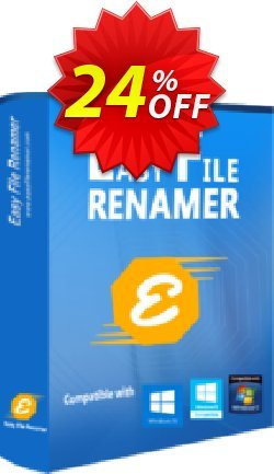 Easy File Renamer - 1 year  Coupon, discount 20% OFF SORCIM Easy File Renamer (1 year), verified. Promotion: Imposing deals code of SORCIM Easy File Renamer (1 year), tested & approved