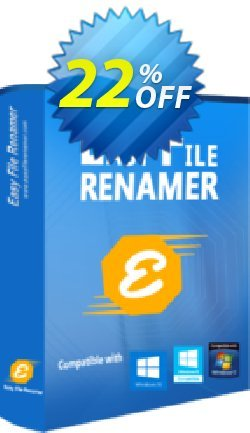 Easy File Renamer Business - 1 year  Coupon, discount 20% OFF Easy File Renamer Business (1 year), verified. Promotion: Imposing deals code of Easy File Renamer Business (1 year), tested & approved