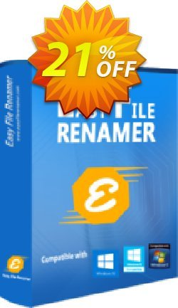 Easy File Renamer Business - Lifetime  Coupon, discount 20% OFF Easy File Renamer Business (Lifetime), verified. Promotion: Imposing deals code of Easy File Renamer Business (Lifetime), tested & approved