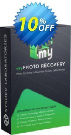 myPhoto Recovery - Personal License Coupon, discount myPhoto Recovery - Personal License special promotions code 2019. Promotion: special promotions code of myPhoto Recovery - Personal License 2019