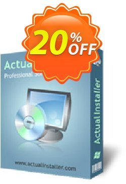 Actual Installer Pro Coupon, discount Actual Installer Pro impressive offer code 2020. Promotion: impressive offer code of Actual Installer Pro 2020
