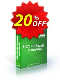 Html To Excel .NET - Developer License PRO Coupon discount Html To Excel .NET - Developer License PRO staggering deals code 2019 - staggering deals code of Html To Excel .NET - Developer License PRO 2019