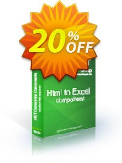Html To Excel .NET - Site License Coupon discount Html To Excel .NET - Site License awful promo code 2020. Promotion: awful promo code of Html To Excel .NET - Site License 2020