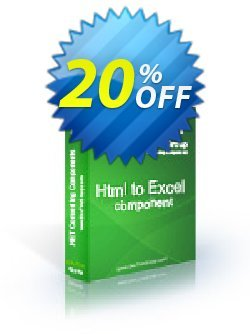 Html To Excel .NET - Source Code License Coupon discount Html To Excel .NET - Source Code License awful discounts code 2019 - awful discounts code of Html To Excel .NET - Source Code License 2019