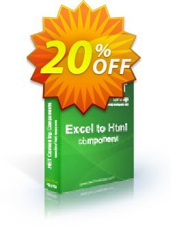 Excel To Html .NET - Source Code License Coupon, discount Excel To Html .NET - Source Code License staggering discount code 2021. Promotion: staggering discount code of Excel To Html .NET - Source Code License 2021