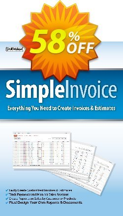 SimpleInvoice Coupon, discount 40% OFF SimpleInvoice, verified. Promotion: Amazing promo code of SimpleInvoice, tested & approved