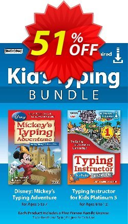 Kid's Typing Bundle Coupon, discount 30% OFF Kid's Typing Bundle, verified. Promotion: Amazing promo code of Kid's Typing Bundle, tested & approved
